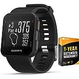 Garmin Approach S10 Lightweight GPS Golf Watch, Black - (010-02028-00) w/ 1 Year Extended Warranty