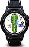 GOLFBUDDY Unisex W10 Golf Entfernungsmesser, schwarzes Zifferblatt (schwarz und dreifarbiges (rot/weiß/blau) Armband)