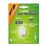 LiteXpress LXB430 2Mode LED Upgrade Modul 430 oder 40 Lumen NUR für 2 C/D-Cell Maglite Taschenlampen