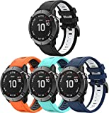 Chainfo Armband kompatibel mit Garmin Approach S60 / Approach S62, Silikon Sportarmband Uhr Band Strap Ersatzarmband Uhrenarmband (4-Pack I)
