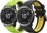Chainfo Armband kompatibel mit Garmin Approach S60 / Approach S62, Silikon Sportarmband Uhr Band Strap Ersatzarmband Uhrenarmband (2-Pack G)